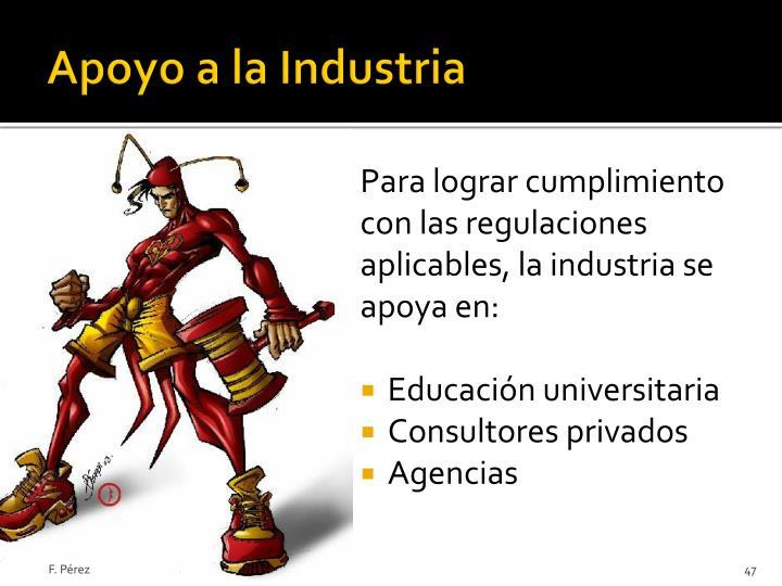 Apoyo a la Industria