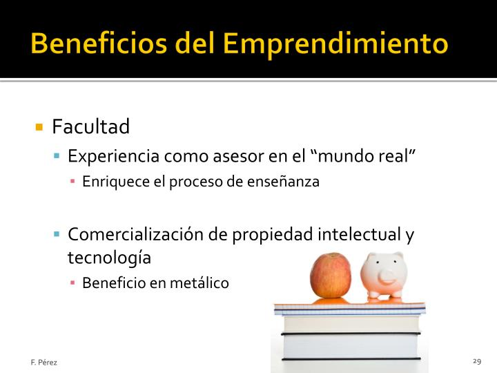 Beneficios del Emprendimiento