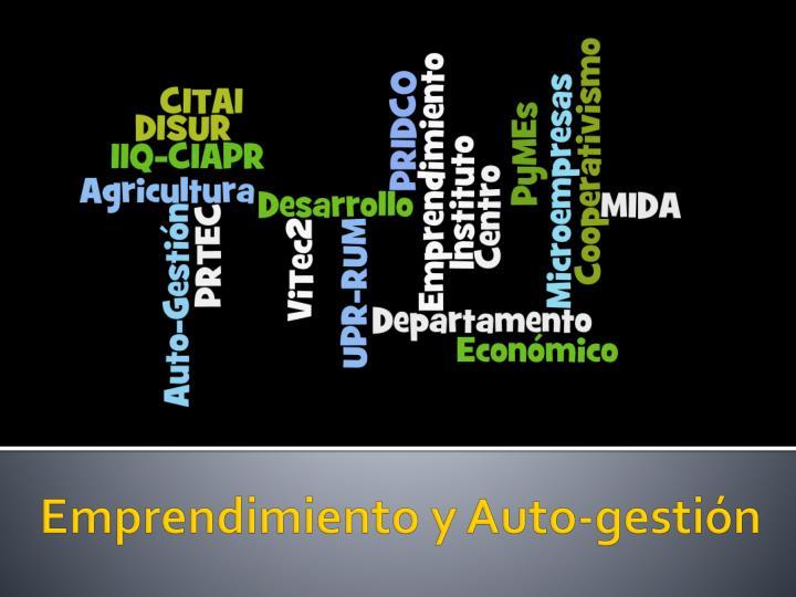 Emprendimiento y Auto-gestión