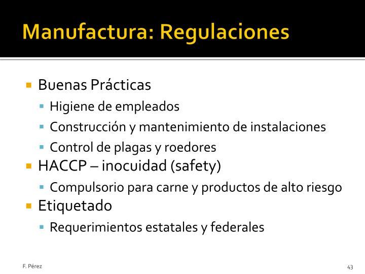 Manufactura: Regulaciones