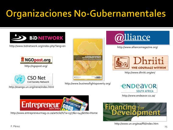 Organizaciones No-Gubernamentales