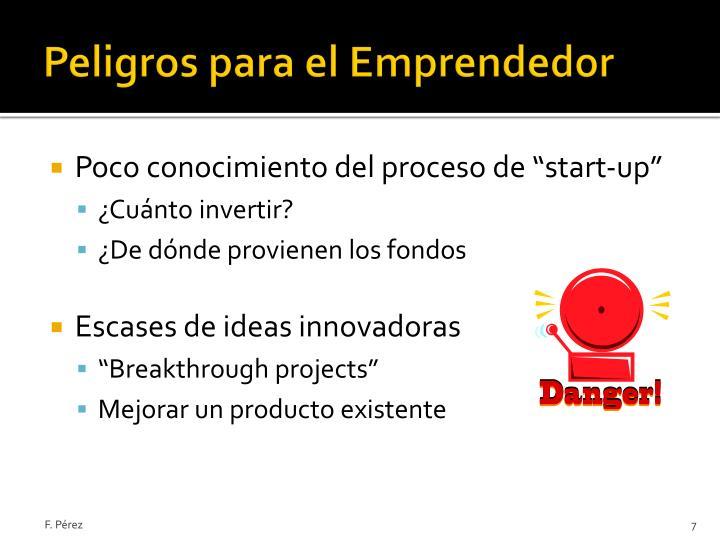 Peligros para el Emprendedor