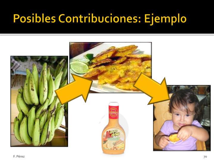 Posibles Contribuciones: Ejemplo