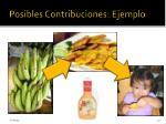 posibles contribuciones ejemplo