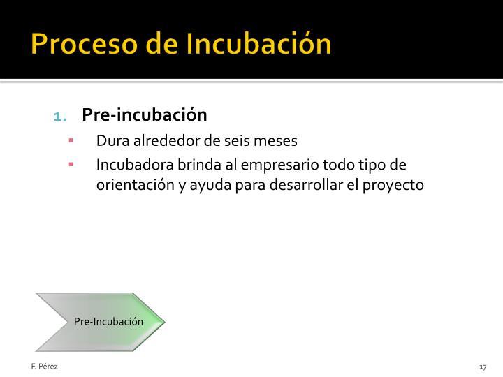 Pre-Incubación