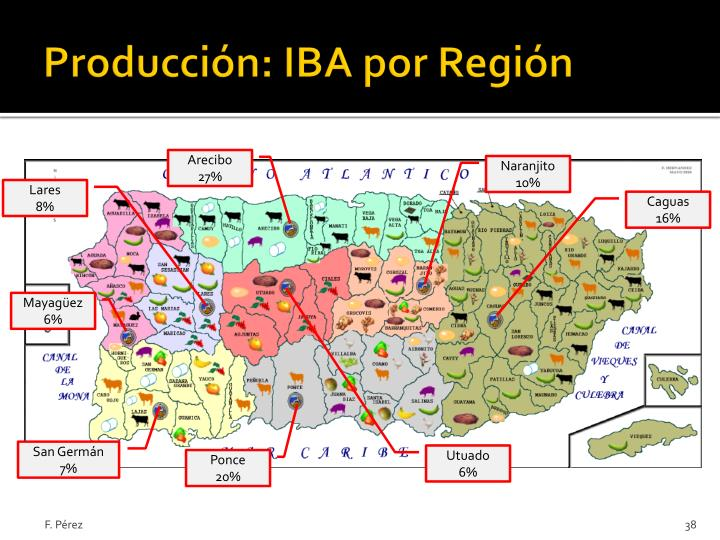 Producción: IBA por Región