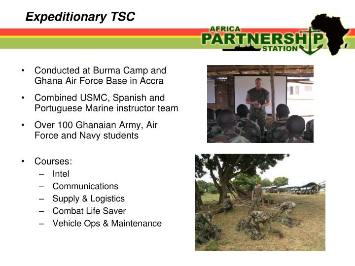 Conducted at Burma Camp and Ghana Air Force Base in Accra