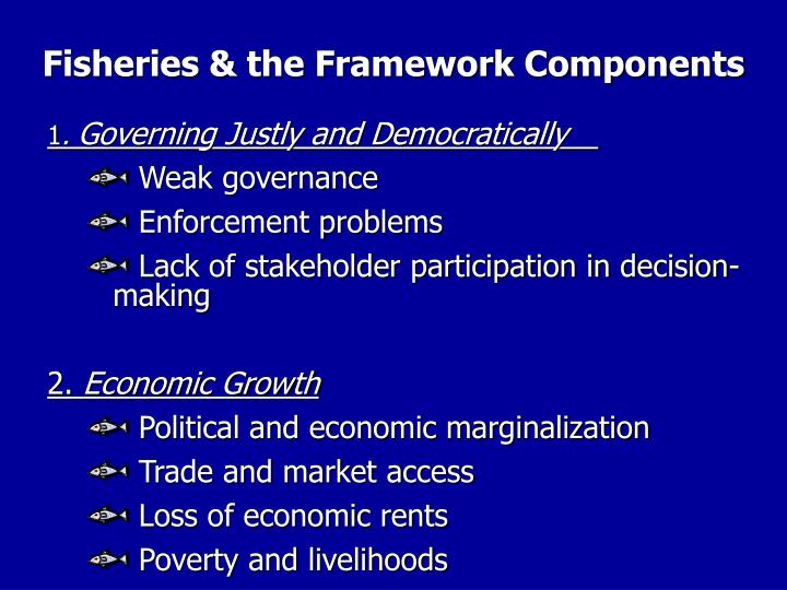 Fisheries & the Framework Components