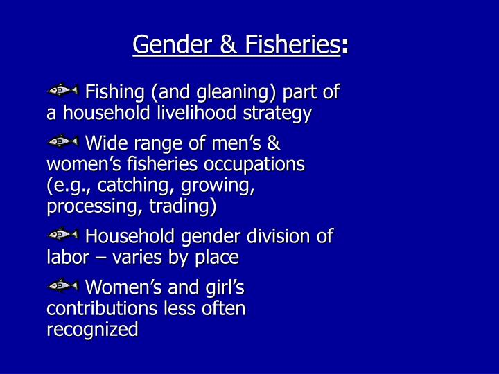 Gender & Fisheries