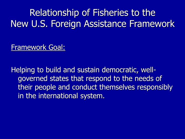 Relationship of Fisheries to the