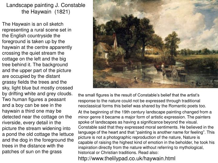 Landscape painting J. Constable the Haywain  (1821)
