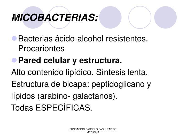 MICOBACTERIAS: