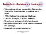 tratamiento resistencia a las drogas