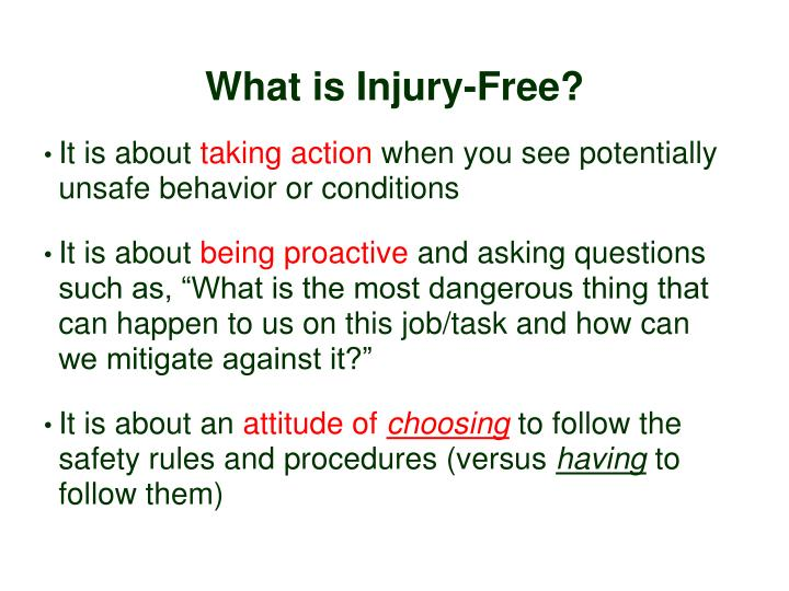 What is Injury