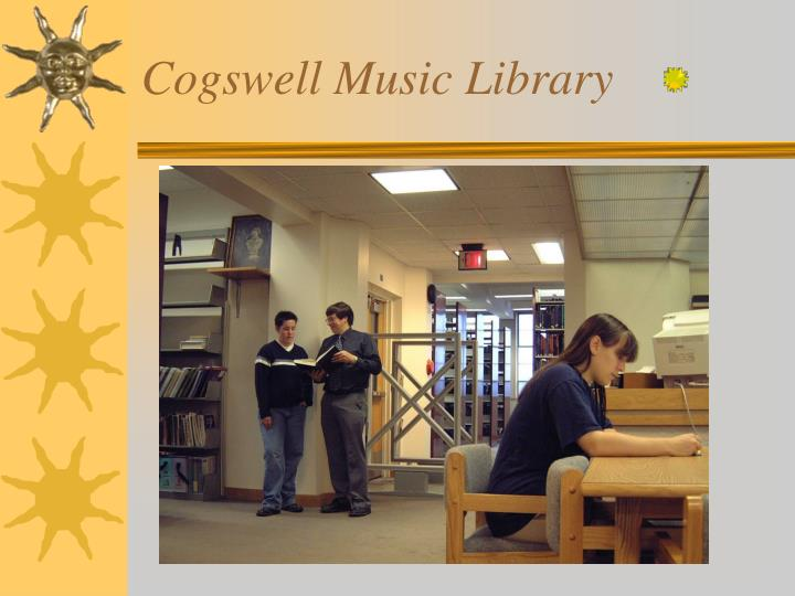Cogswell Music Library