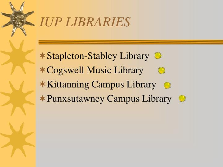 Iup libraries1