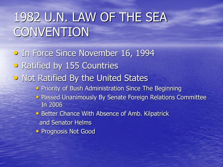 1982 U.N. LAW OF THE SEA CONVENTION