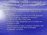 conflicts between councils magnuson act requirements and rfmos