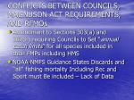 conflicts between councils magnuson act requirements and rfmos1