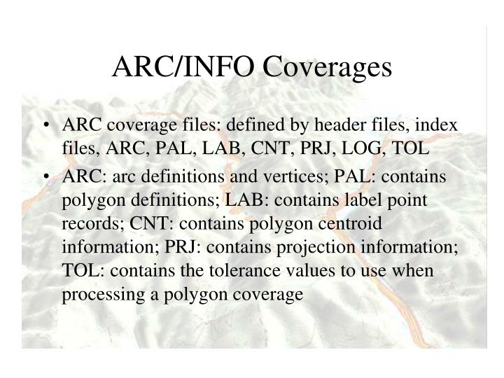 ARC/INFO Coverages