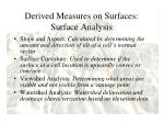 derived measures on surfaces surface analysis3