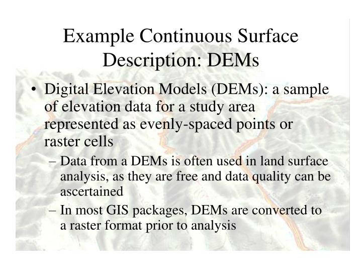Example Continuous Surface