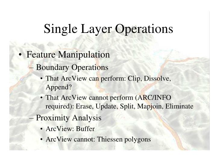 Single Layer Operations