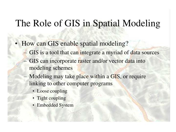 The Role of GIS in Spatial Modeling
