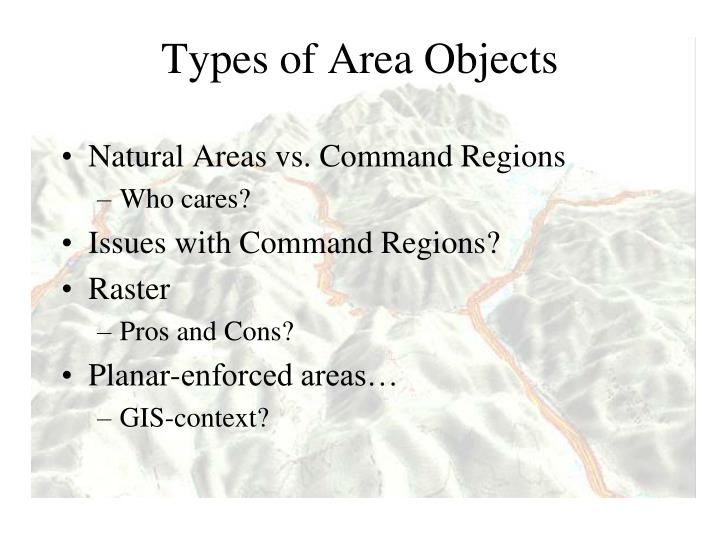 Types of Area Objects