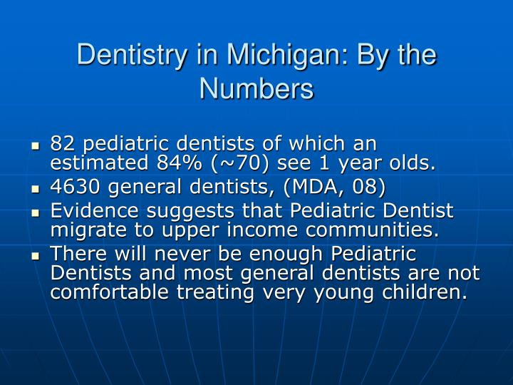 Dentistry in Michigan: By the Numbers