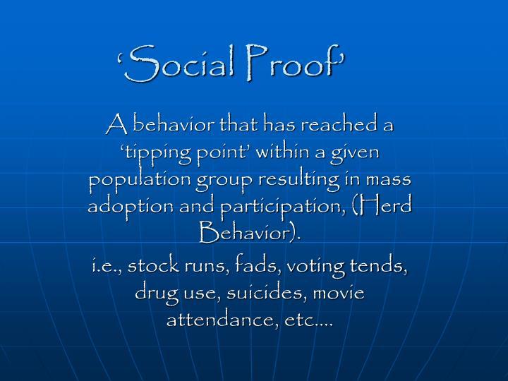 'Social Proof'