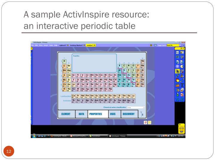A sample ActivInspire resource: