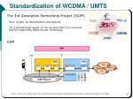 standardization of wcdma umts
