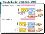 standardization of wcdma umts1