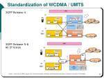 standardization of wcdma umts2