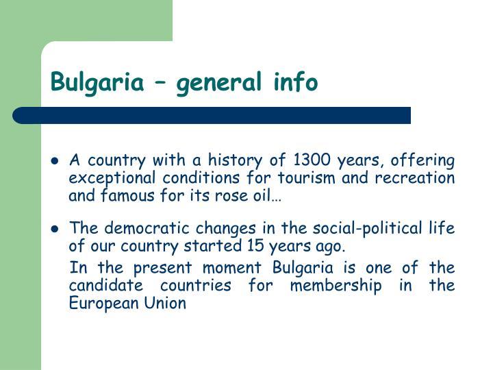 Bulgaria – general info