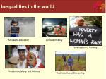 inequalities in the world