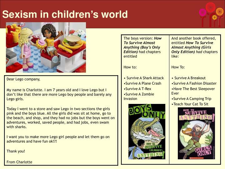 Sexism in children's world