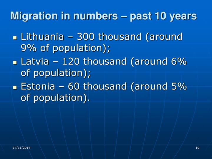 Migration in numbers – past 10 years