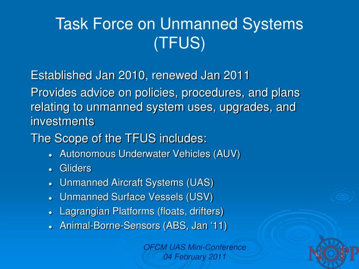 Task Force on Unmanned Systems