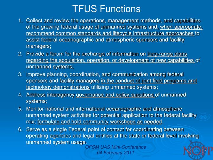 TFUS Functions