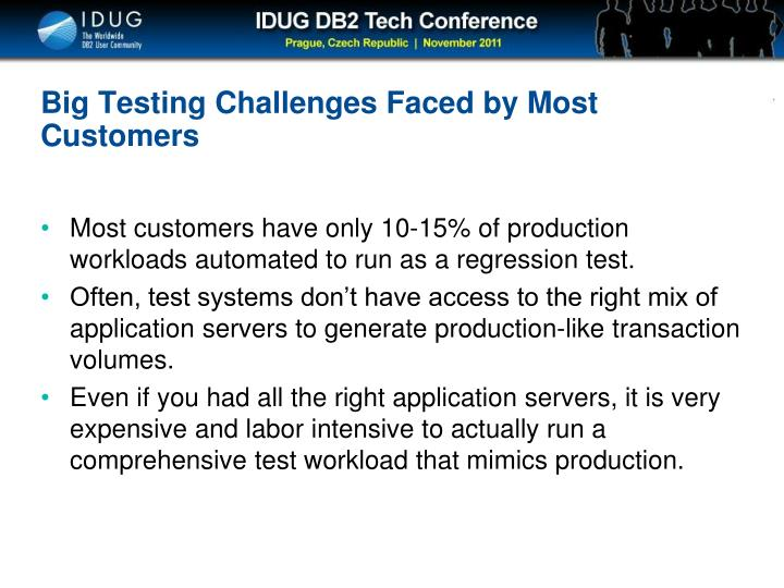 Big Testing Challenges Faced by Most Customers