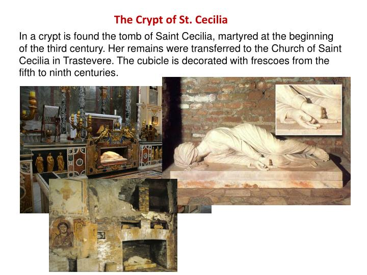 The Crypt of St. Cecilia
