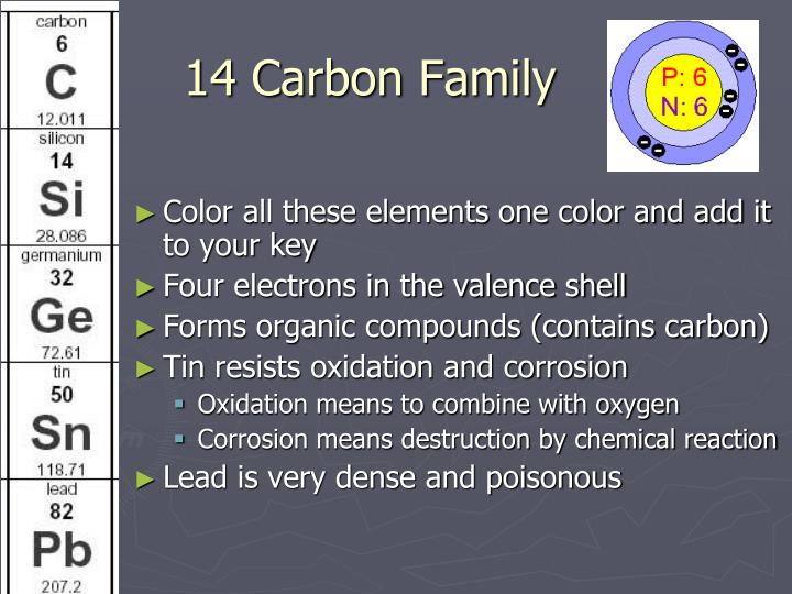 14 Carbon Family