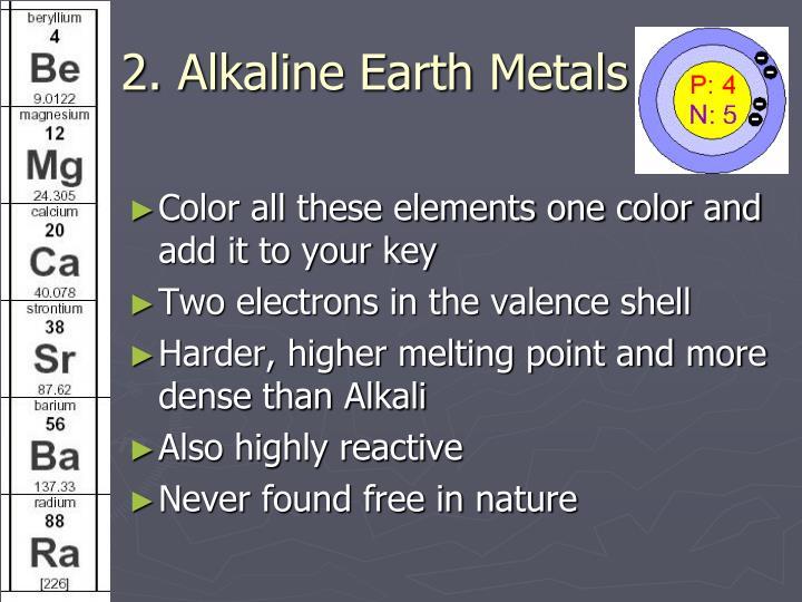 2. Alkaline Earth Metals
