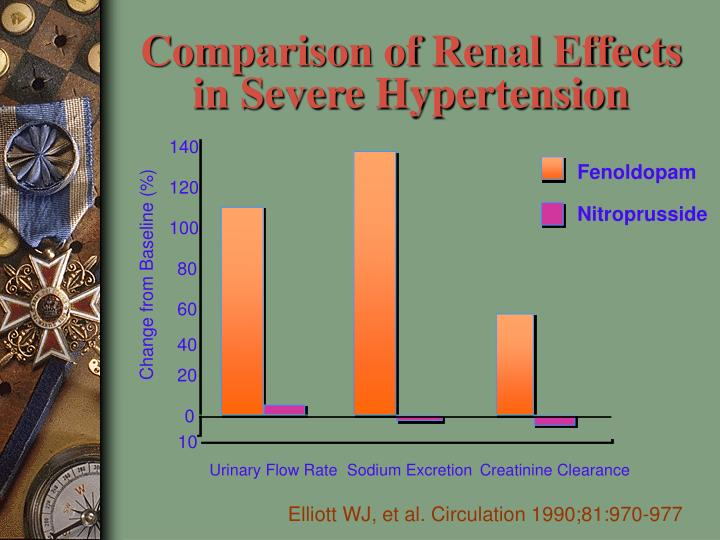 Comparison of Renal Effects in Severe Hypertension