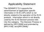 applicability statement