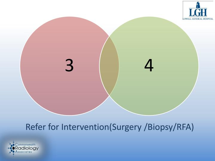 Refer for Intervention(Surgery /Biopsy/RFA)