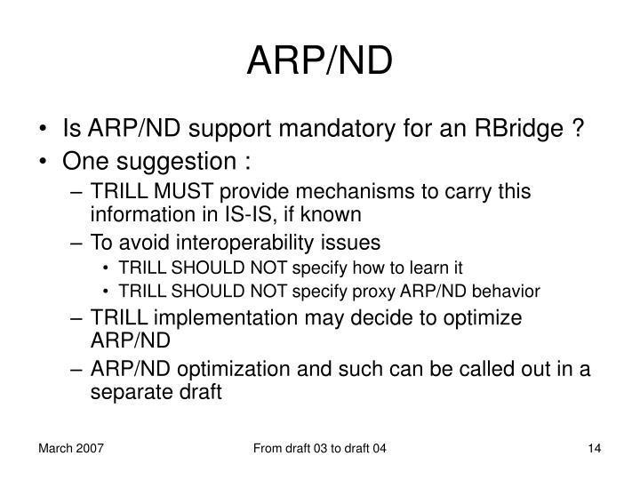 ARP/ND