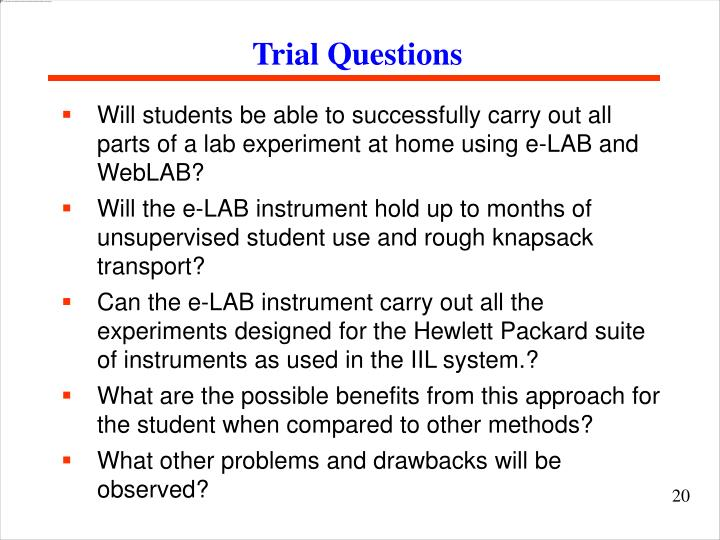 Trial Questions